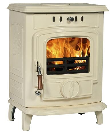 white multi-fuel stove