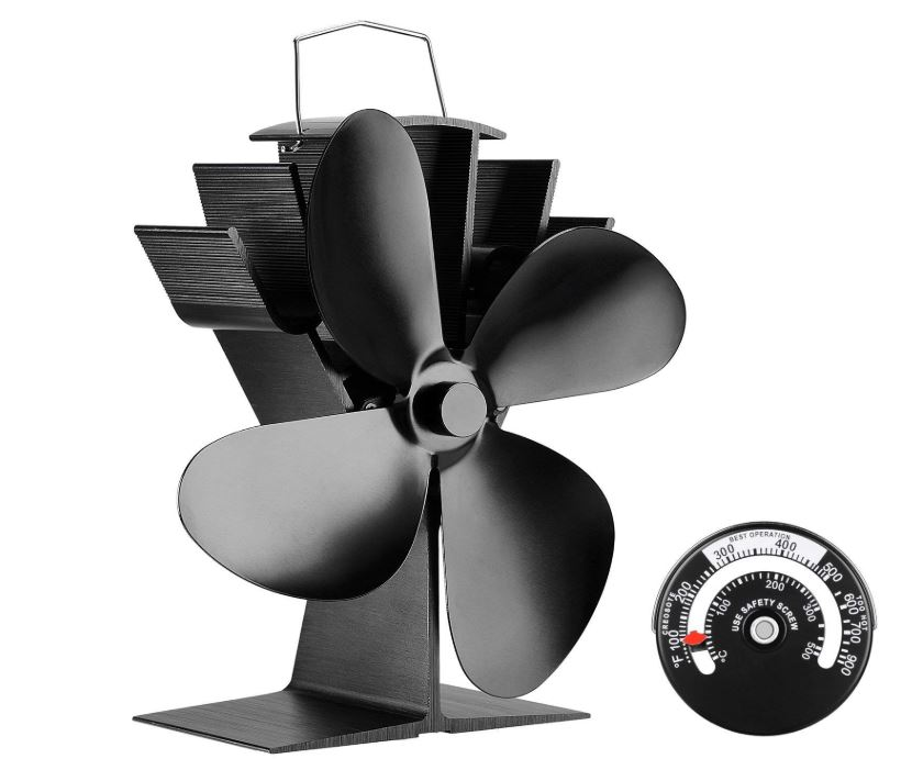 silent operation 4 blade heat powered stove fan for wood. Black Bedroom Furniture Sets. Home Design Ideas
