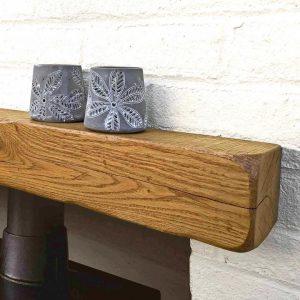 Rustic Oak Mantel – 10cm x 10cm